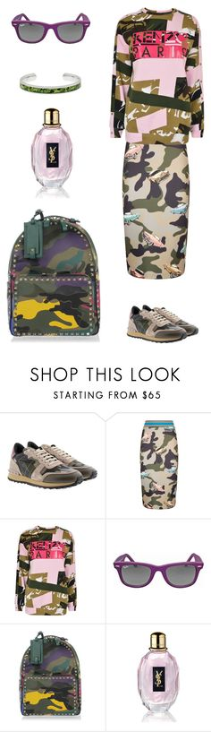 """""""Camouflage"""" by valelondon ❤ liked on Polyvore featuring Valentino, Pinko, Kenzo, Ray-Ban and Yves Saint Laurent"""