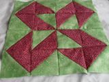 """""""colorado quilt block pattern"""".  I see raven-heads.  (who's surprised?)"""