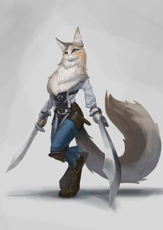 Swift River, A No-nonsense Tabaxi Fighter : characterdrawing Cat Character, Fantasy Character Design, Character Drawing, Character Design Inspiration, Character Concept, Concept Art, Dnd Characters, Fantasy Characters, Bastet
