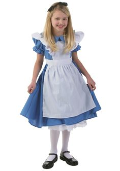 Child Deluxe Alice in Wonderland Dress for $34.99 from www.halloweencostumes.com