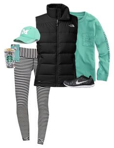 featuring moda, lululemon, Vineyard Vines, The North Face, NIKE Adrette Outfits, Sporty Outfits, Athletic Outfits, Athletic Wear, Athletic Fashion, Yoga Outfits, Fall Winter Outfits, Autumn Winter Fashion, Athleisure
