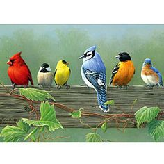 @Overstock.com - Reeves Artist Collection 'Rail Birds' Paint by Number - Reeves Painting by Number Artist Collection is the perfect introduction for artists. No need to worry about subject matter or composition