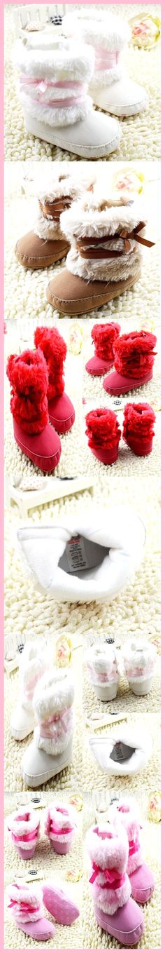 Newborn Baby Girls Bowknot Shoes Soft Crib Shoes Toddler Infant Warm Fleece First Walker baby girls shoes Winter Baby Boots, Baby Girl Shoes, Girls Shoes, Ugg Boots, Snow Boots, Winter Newborn, Baby Girl Winter, Baby First Outfit, Baby Boy Outfits