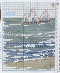 Landscape_Seashore - 2/4 Solo Patrones Punto Cruz (pág. 390) | Aprender manualidades es facilisimo.com