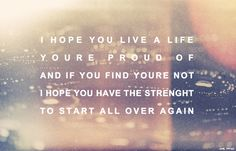 I hope you have the strenght