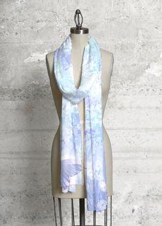 Foulard Modal - Bleu Industriel Par Vida Vida 77GScD7B4