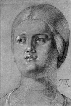 Head of a Woman - Albrecht Durer