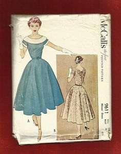 1953 McCall's  9611 Ladies Luncheon Dress with by MrsWooster, $25.00