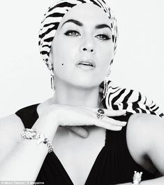 Kate Winslet channeling Liz Taylor in September V Magazine. Wicked strong eyebrows!