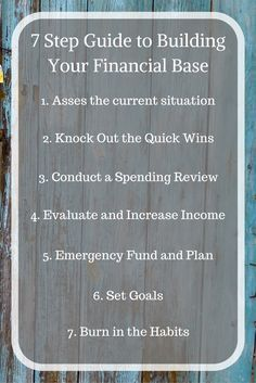 Your Financial Base is what you build your Financial Future on, make sure it is sturdy! via @Apathy Ends | Personal Finance