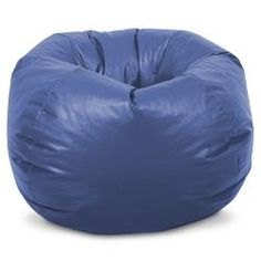 Classic Vinyl Bean Bag Chair for Kids - Royal Blue Kids Bean Bags, Chill Room, Teen Furniture, Home Theater Rooms, Royal Blue Color, Pillow Room, Vinyl Cover, Game Room, Bean Bag Chair