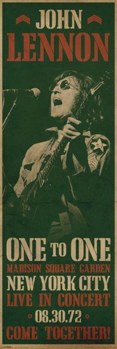 John Lennon Concert Door Poster