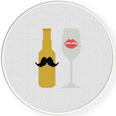 His And Hers Cross Stitch Illustration