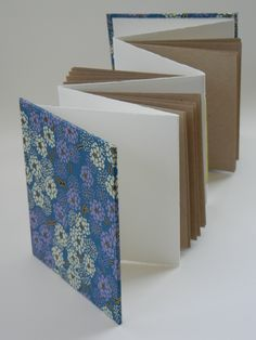"This week we moved on to two basic hardcover structures: a simple concertina/accordion dos a dos, and a single signature ""spineless"" book. As a newer student of binding, I loved making hard-back bo..."