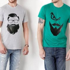 Pack of 2 - Beard T-shirt for Men Online in Pakistan Deal Today, Men Online, Pakistan, Online Shopping, Delivery, V Neck, T Shirts For Women, Stuff To Buy, Tops