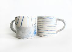 Leah Ball - marbled porcelain mugs