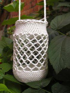 Ravelry: garden lights version 2 pattern by moois van me Crochet Gifts, Diy Crochet, Crochet Top, Crochet Jar Covers, Crochet Bookmarks, Repurposed Items, Tea Light Holder, Lana, My Design