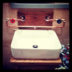 Steampunk basin sink #Bathroom