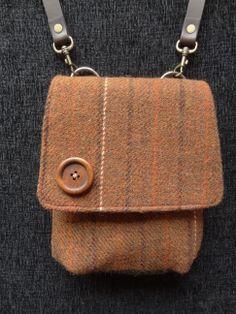 Harris Tweed cross body bag, One of a kind. For sale at https://www.etsy.com/listing/163886892/harris-tweed-brown-shoulder-bag-scottish?ref=shop_home_feat