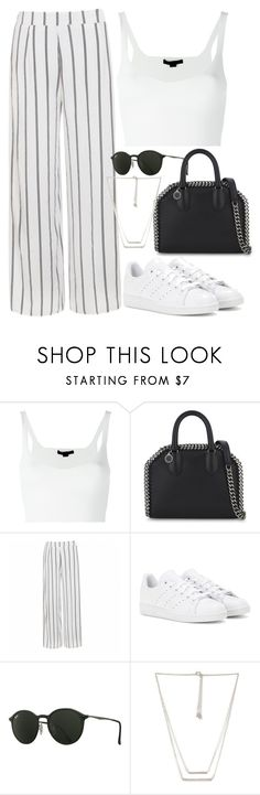 """""""Untitled #2708"""" by camila-echi ❤ liked on Polyvore featuring Alexander Wang, STELLA McCARTNEY, Ally Fashion, adidas, Ray-Ban and Forever 21"""