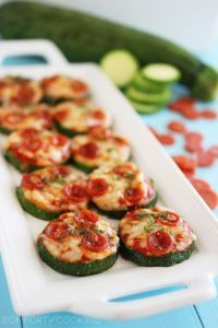 Zucchini Pizza Bites - May have to actually try these!! They look delish.