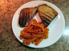 Reuben Sandwich with Sweet Potato fries for St. Patty's day.