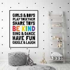 Play Create Learn Explore Dream Printable Art, Kids Playroom Decor, Kids Wall Art, Toy Room Decor, P Playroom Signs, Playroom Wall Decor, Baby Nursery Decor, White Nursery, Playroom Ideas, Nursery Room, Scandinavian Kids Decor, Art Wall Kids, Wall Art
