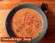 Cheeseburger Soup http://www.momspantrykitchen.com/cheeseburger-soup.html pinned with Pinvolve - pinvolve.co