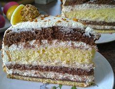 Zutaten    1 Pck.Tortenboden, (Wiener Boden, hell)  1 LiterSahne  4 Pck.Konfekt, (Giotto)  150 gNutella  n. B.Schokoladenrasp...
