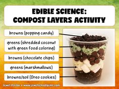 Edible Science For Kids | Earth Day Activities | Composting | Looking for fun Earth Day activities? Students learn about composting the fun way by using this PowerPoint resource. They will enjoy the Edible Science Activity even more! See this in Jewel Pastor's store on TeachersPayTeachers! | Earth Day Activities | Edible Science | Composting