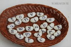 Cute idea!  Maybe I'll use the Bananagram letters.