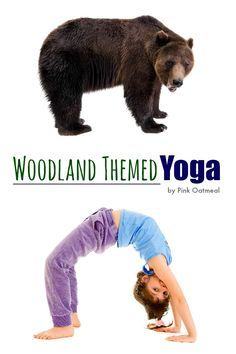 Woodland yoga poses. Ideas on how to incorporate woodland themed yoga into your home or classroom.