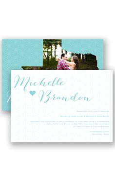 State of Bliss Wedding Invitation by David's Bridal