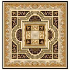 Ковер золотистый 'Королевская страсть' Palazzo  Ducale #carpets #rug #ковер #designer #interior