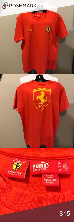 Official Ferrari T shirt size M Official Ferrari (byPuma)T shirt size M in great condition,shirt has a tiny hole on the shoulder next to seam (see picture) Ferrari Shirts Tees - Short Sleeve