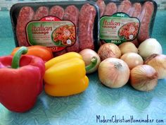 Fair Food in the Slow Cooker: Italian Sausage Peppers and Onions