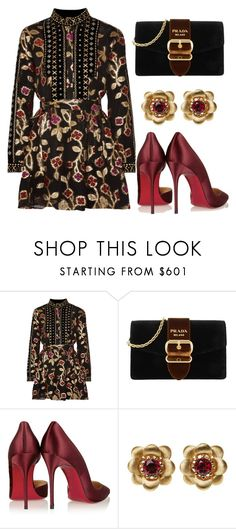 """Untitled #1408"" by onlyonedayatatime ❤ liked on Polyvore featuring Dodo Bar Or, Prada, Christian Louboutin and La Perla"