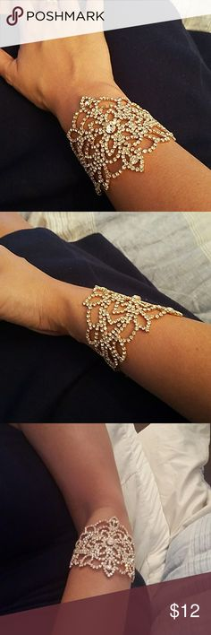 Rhinestone Bling bracelet and arm cuff bling bracelet and arm cuff. Jewelry Bracelets