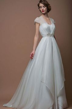 2952 best Short Sleeved/Cap Sleeved Wedding Gown Inspiration images ...