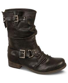 Carlos by Carlos Santana Shoes, Ashford Motorcycle Booties - Boots - Shoes - Macy's #vegan