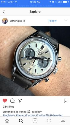 Probably my favorite Heuer Carrera of all time. #panda