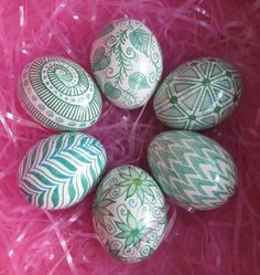 White and green eggs