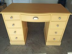 I used the color 'Arles' which is a deliciously warm and muted yellow by Annie Sloan chalk paint.