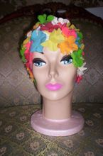 Vintage 50's-60's Multi Color Flower PETALS Swimming Hat Swim CAP
