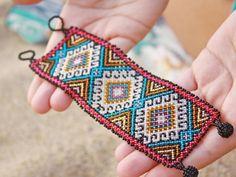 Huichol authentic beaded Bracelet Ethnic Jewelry por AidaCoronado