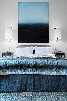 Interesting and easy DIY art for bedroom or anywhere