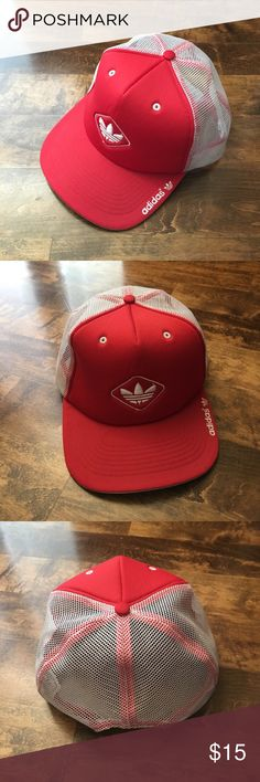 Adidas Climacool SnapBack Cap Red Adidas Trucker Cap with mesh back panels for maximum breathability. Logo on the front and brim. Worn less than 5 times. Adidas Accessories Hats