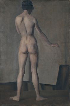 Winifred Knights: Full-length female nude, rear view