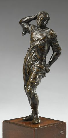 An Italian bronze figure of a Jester, attributed to Orazio Mochi (1571-1625), first quarter 17th century, Florence