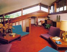 loft in jewel-toned decor from 1979's Family Rooms, Dens, & Studios